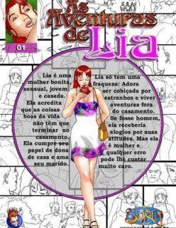 As Aventuras de Lia 1 – Domingo na Praça – Quadrinhos Eróticos