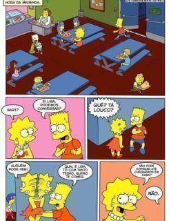 Bart e Lisa fazendo sexo incesto no banheiro da escola