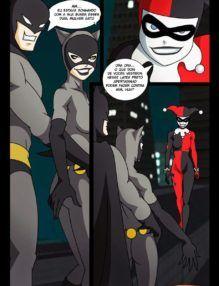 Cartoon Porno – Batman fode mulher Gato e Arlequina