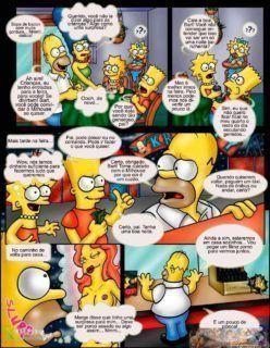 Homer fode Mart e Lisa batendo siririca pro Bart