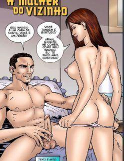 HQ Adulto – A mulher do vizinho – Quadrinhos de sexo