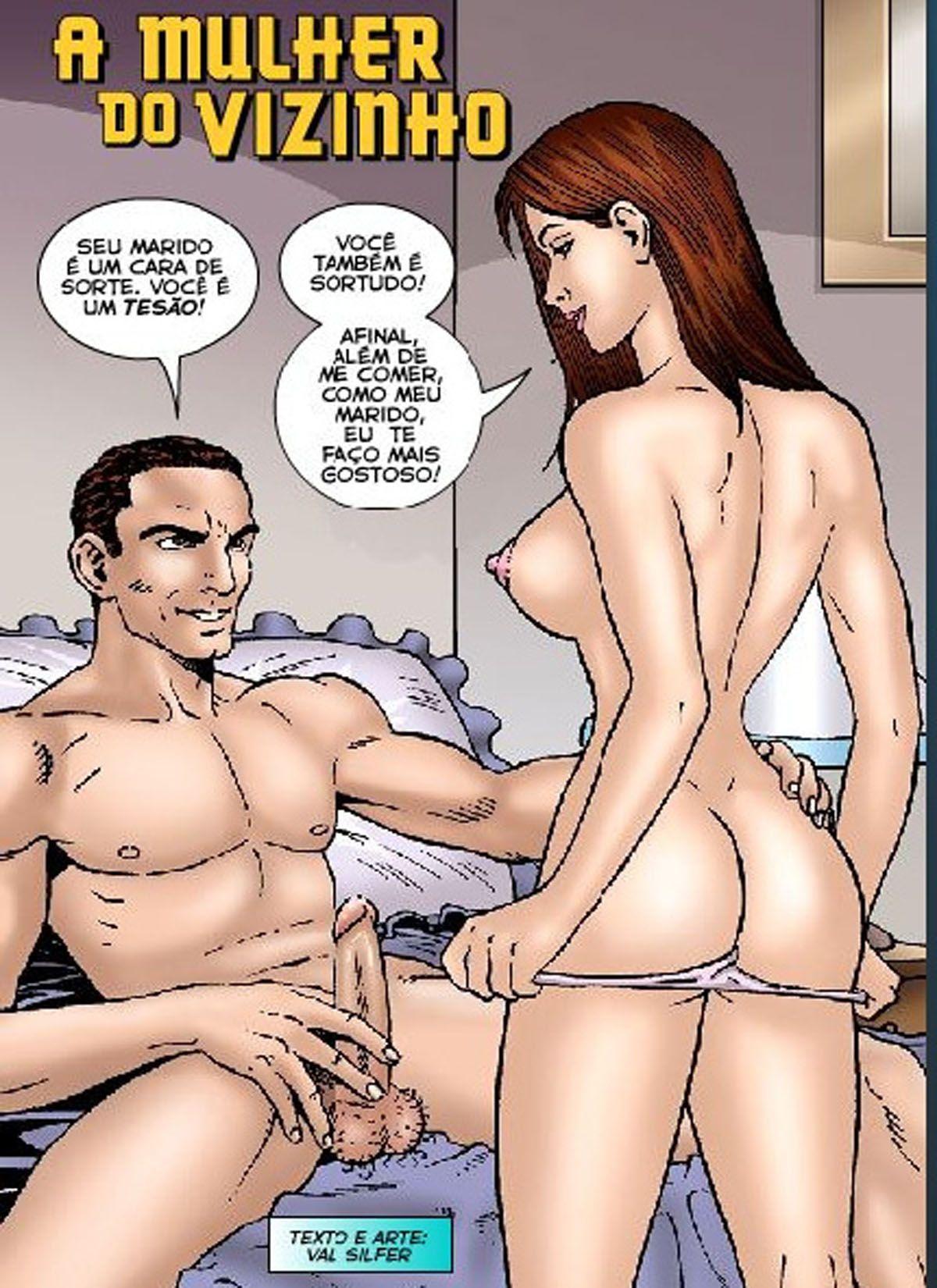 HQ Adulto - A mulher do vizinho - Quadrinhos de sexo