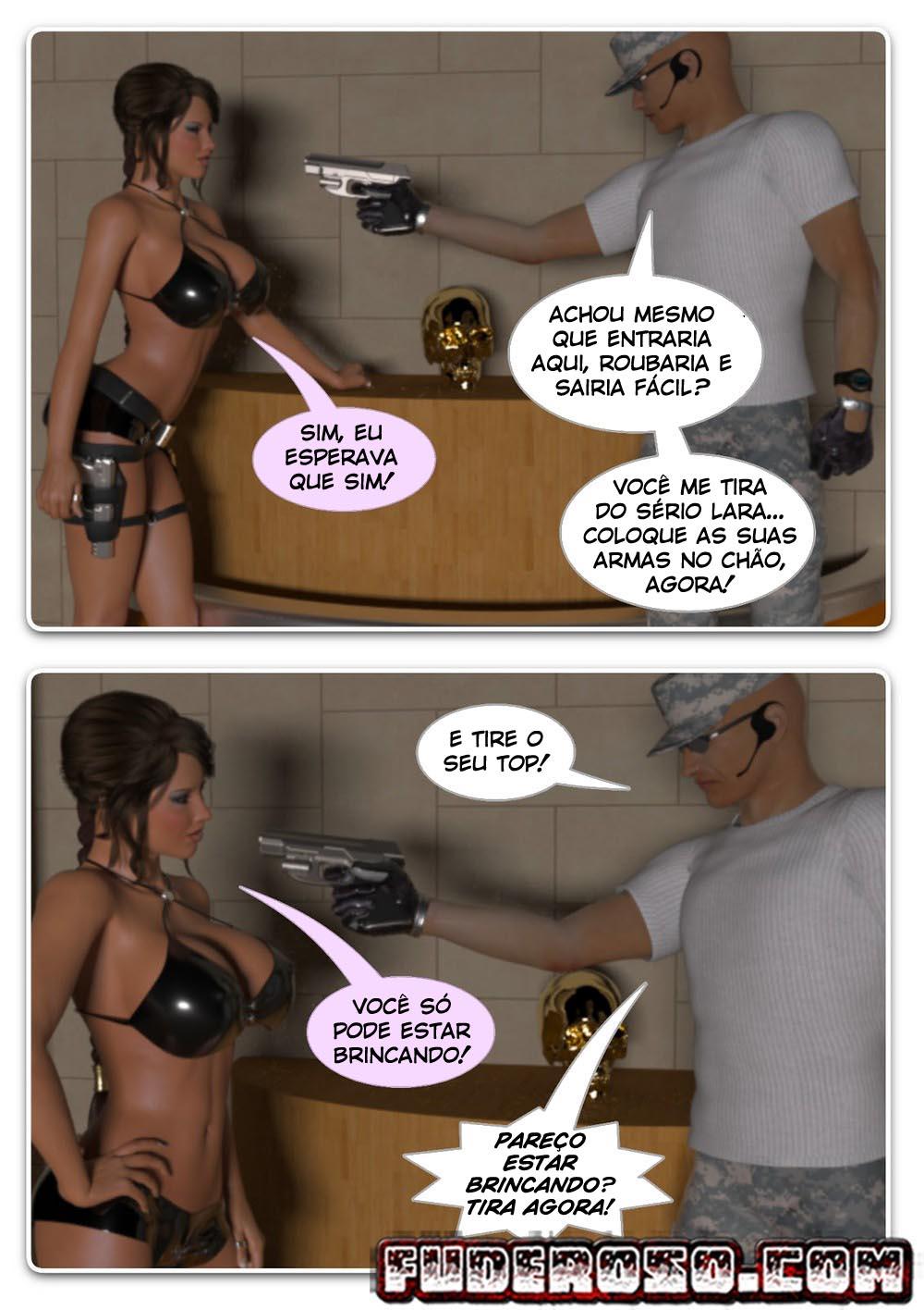 Hentai 3D - Lara Croft e a caveira de ouro - Quadrinhos Porno