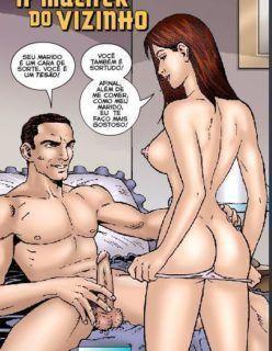 Quadrinho Erótico – Mulher do Vizinho – Contos pornô