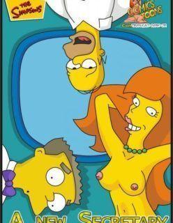 Quadrinho Porno – Homer fodendo a secretária gostosa – Os Simpsons Hentai