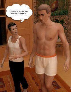 Quadrinhos 3D – Incesto com a mamãe e o papai – Quadrinhos de sexo