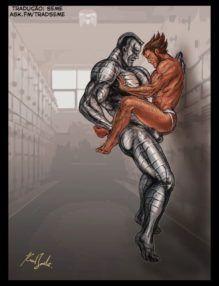 X-Men Gay – Homem de ferro e Wolverine fodendo – Quadrinhos Gays