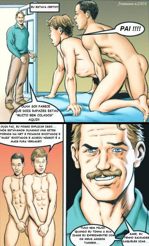 Hentai Gay - Sexo entre pai e filho - Incesto Gay