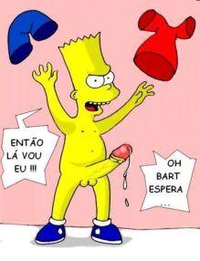Os Simpsons Hentai – Bart estuprando as gostosas e gozando dentro – Quadrinho Porno