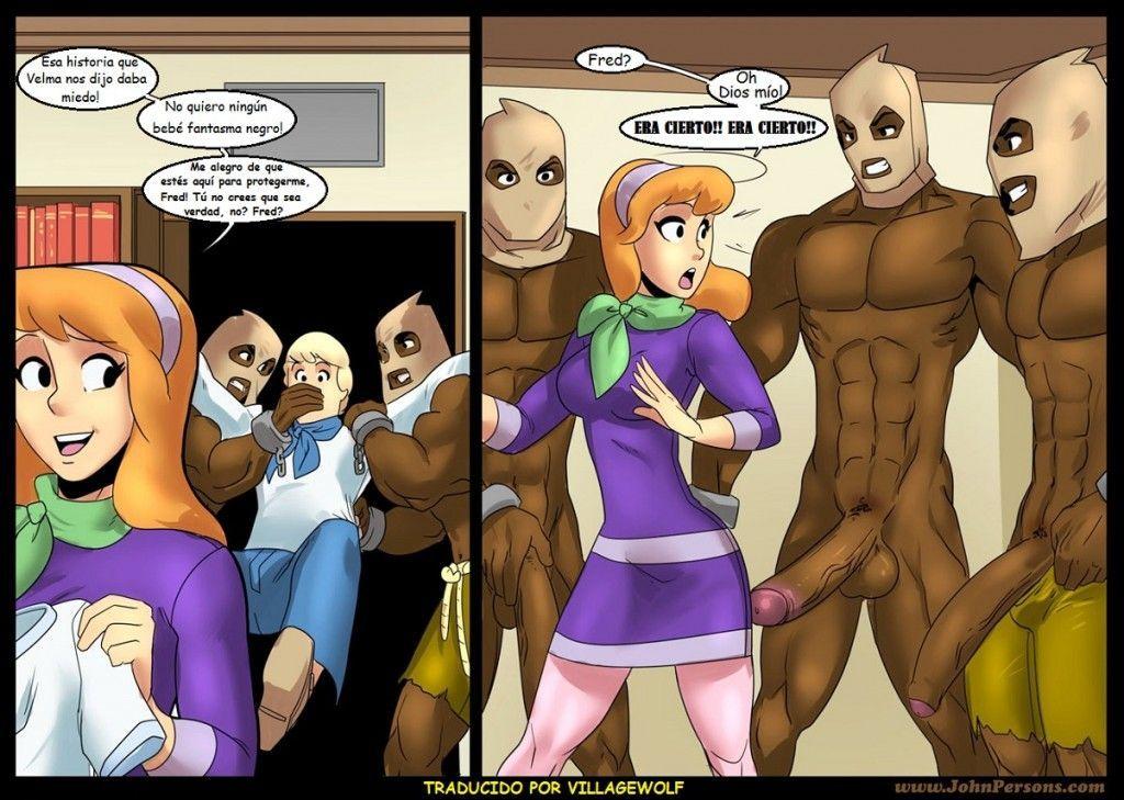 Scooby-Doo - Velma e Dafne fodendo com os negões fantasmas - Hentai