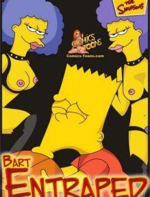 Porno Hentai – Bart aprisionado pelas tias e obrigado a fazer sexo – Quadrinho Incesto