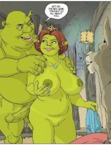 Shrek e Fiona realizando desejos sexuais – Cartoon Porno