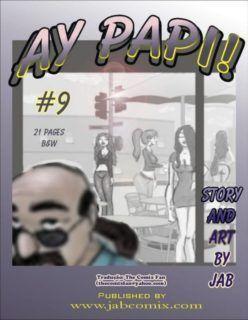 Quadrinho Erótico – Ay Papi #9 – Sacanagem na escola e a babá safada – Hentai Incesto