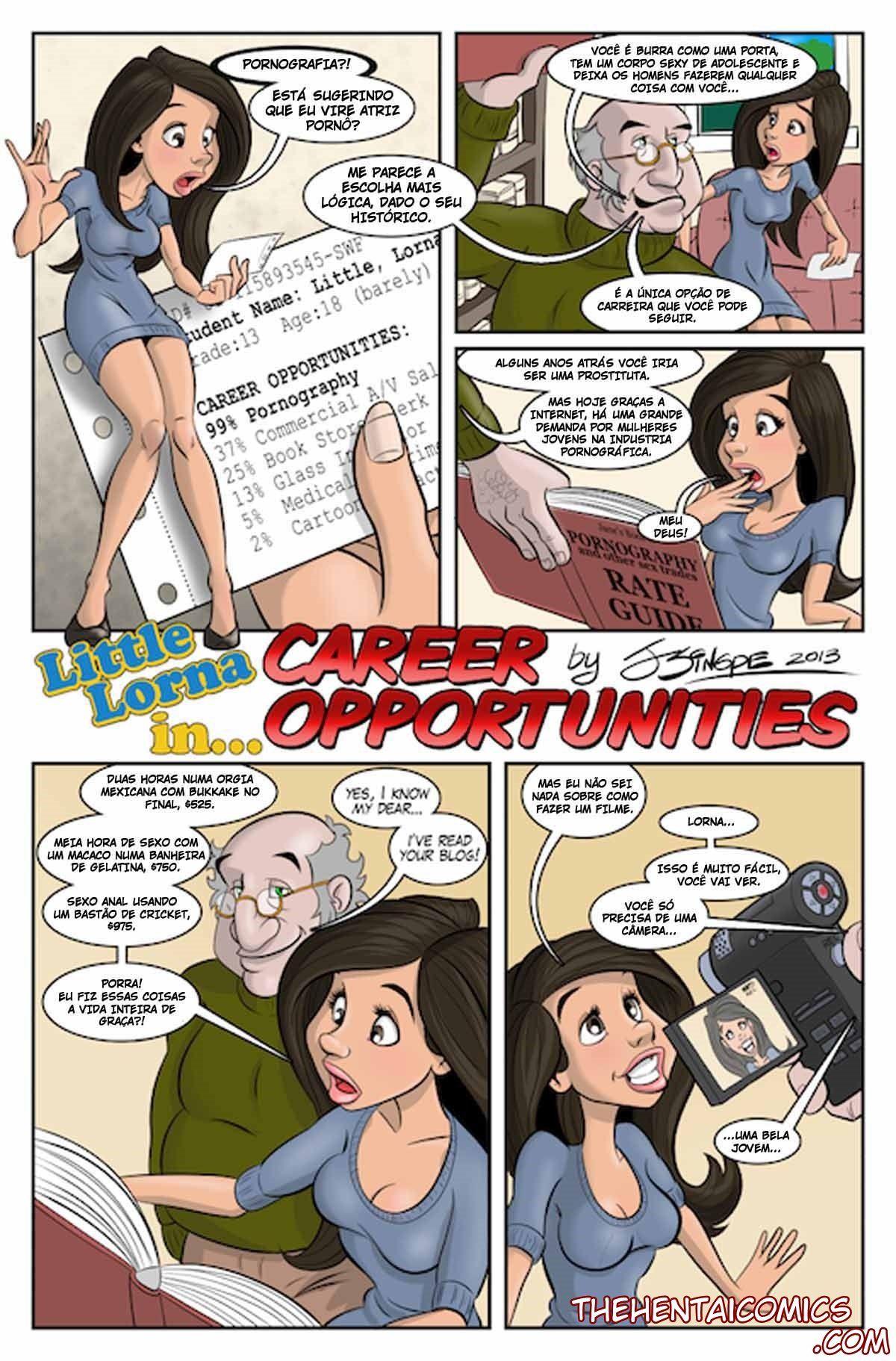 As aventuras da pequena Lorna - Quadrinhos de Sexo