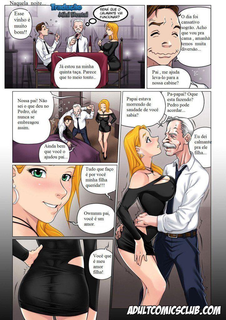 Incesto - Uma filha gostosa e o pai tarado - Quadrinho Porno