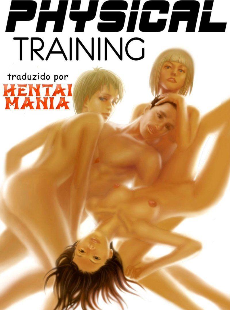 Quadrinhos Futanari - Treinamento físico