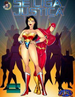 Se liga justiça – Heróis da putaria Parte 1 – Quadrinhos Eroticos