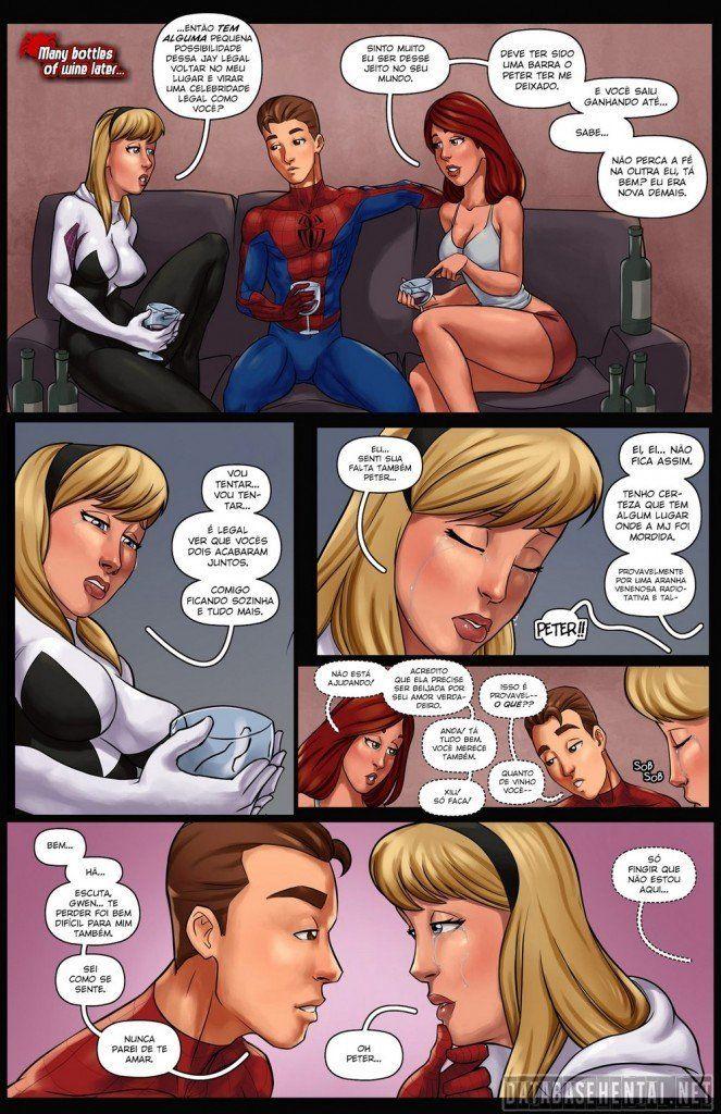 Spiderman em Bygone Blues - Homem Aranha fode duas gostosas - Quadrinho Erotico