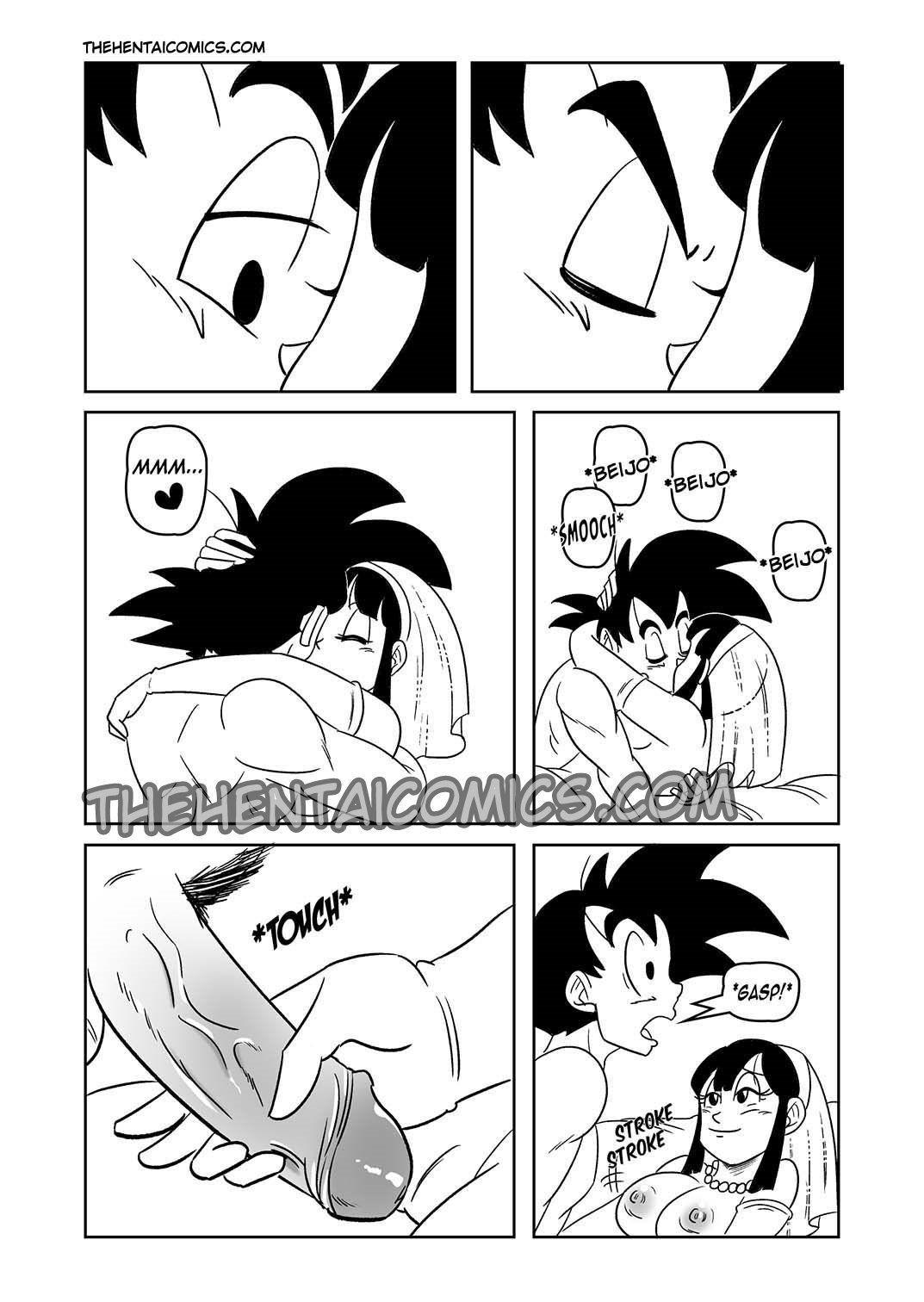 Quadrinhos Eroticos - Goku e Chichi em lua de mel - DBZ Hentai