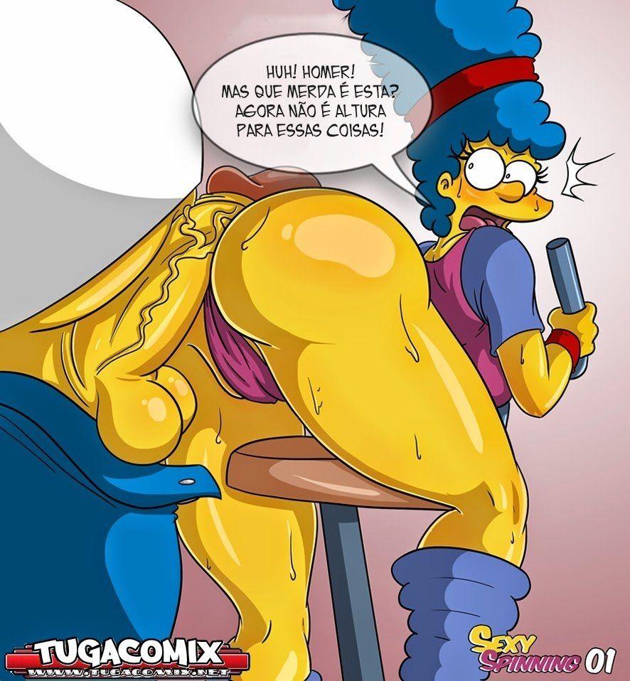 Incrível HQ de Sexo da Marge do desenho Os Simpsons Hentai