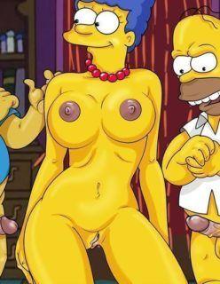 Os Simpsons – Marge fazendo um sexo a três – Hentai Brasil