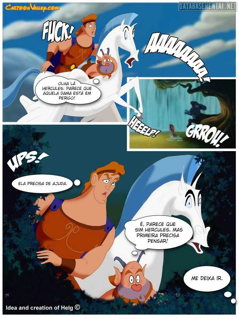 Hércules o aprendiz da putaria - Disney Hentai